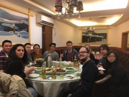 Northern Chinese food with old and new students