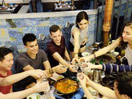Korean BBQ dinner - cheers!