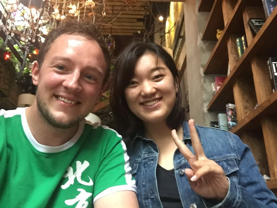 Selfie, Max and one of the Chengde teachers