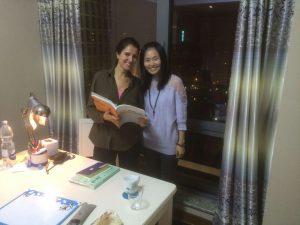 Maria with her LTL teacher Liliane
