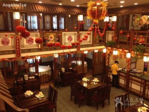 The interior of one of the most popular places to enjoy Shanghai Hairy Crabs