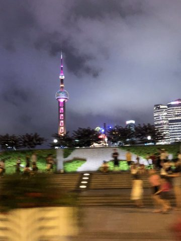 Nighttime View, Pearl Tower in Shanghai