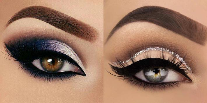 American makeup - These looks both use false eyelashes Image courtesy of APKPure