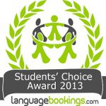 "Languagebooking's Students' Choice Award ""Exceptional Language School"" logo"