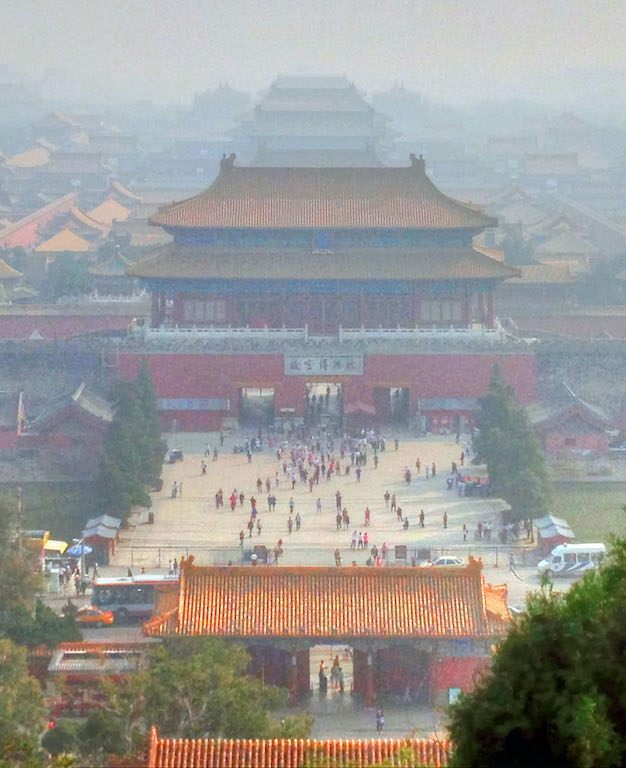 Forbidden City under pollution