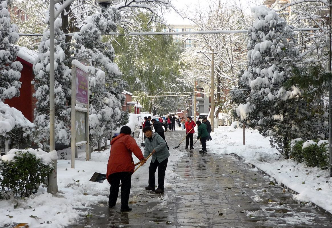 Snowfall in Beijing, November 2019