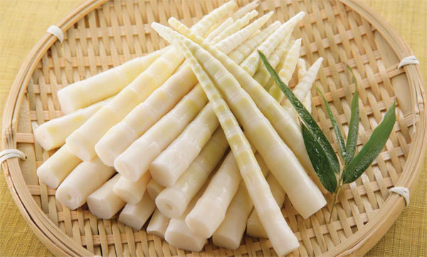 Spring bamboo shoots are used in traditional Shanghanese Shao Mai - Shanghai breakfast