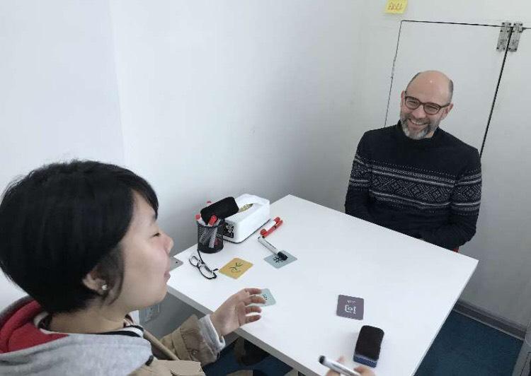 Teacher and student, individual Mandarin class