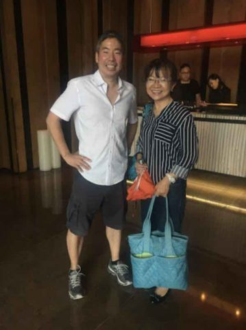 Andy with his Mandarin Teacher in Taipei