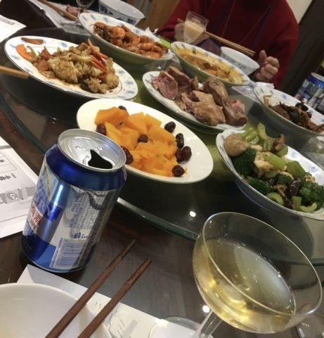 New Year`s dinner
