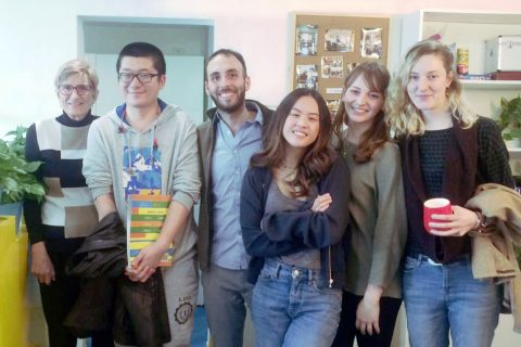 Chinese classes - Fushu with her friends