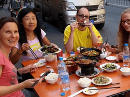 Al fresco lunch in Shanghai with LTL Mandarin
