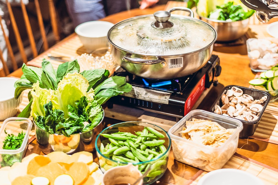 Homemade hot pot