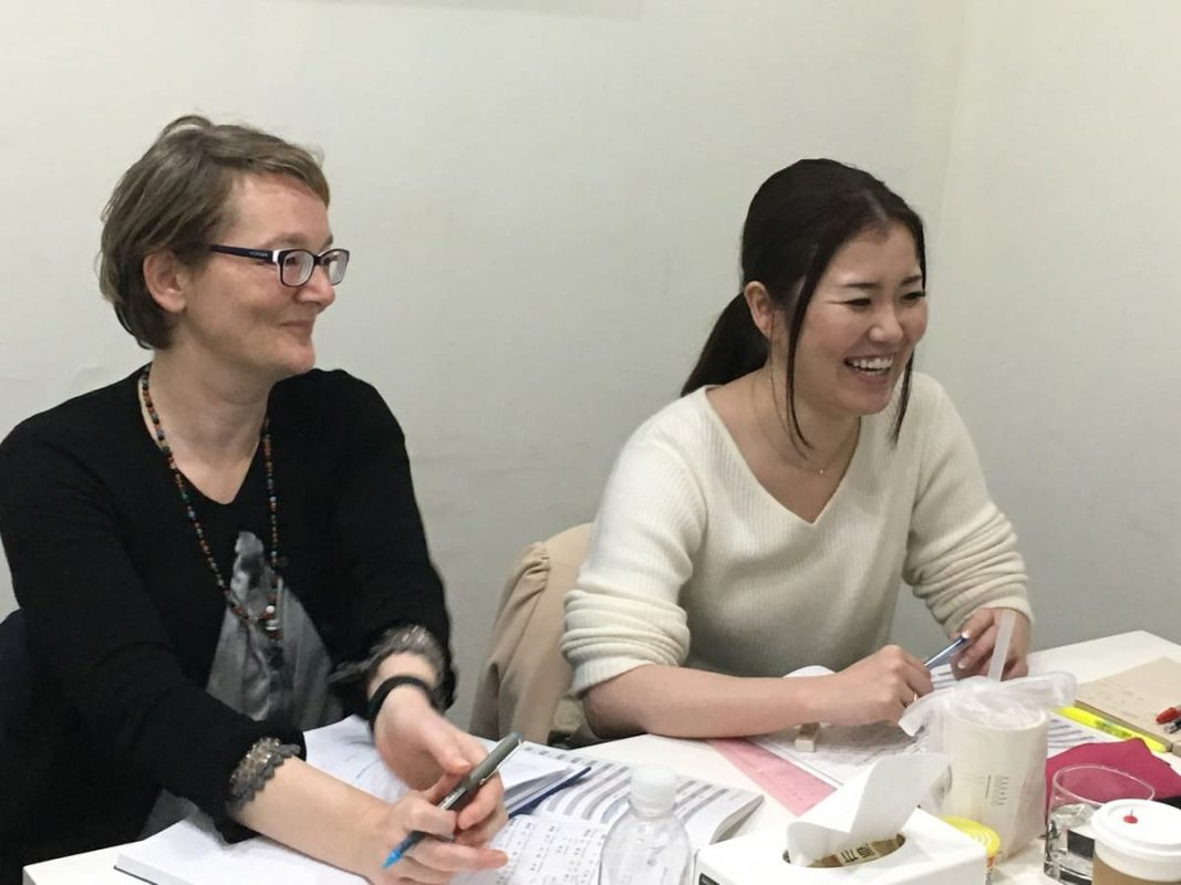 Student and teacher having Chinese class in at LTL Shanghai