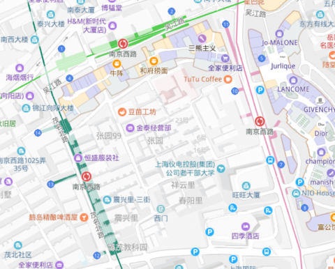 Map of Nanjing West Rd Station