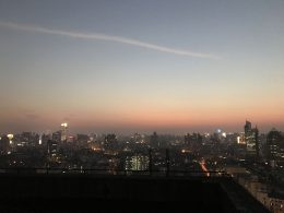 Sunset from the Shanghai school rooftop