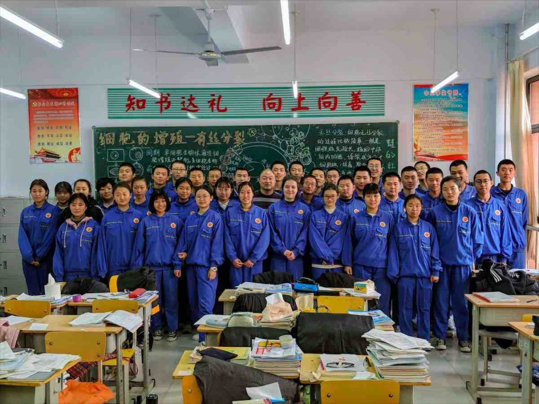 High School in China - Class time