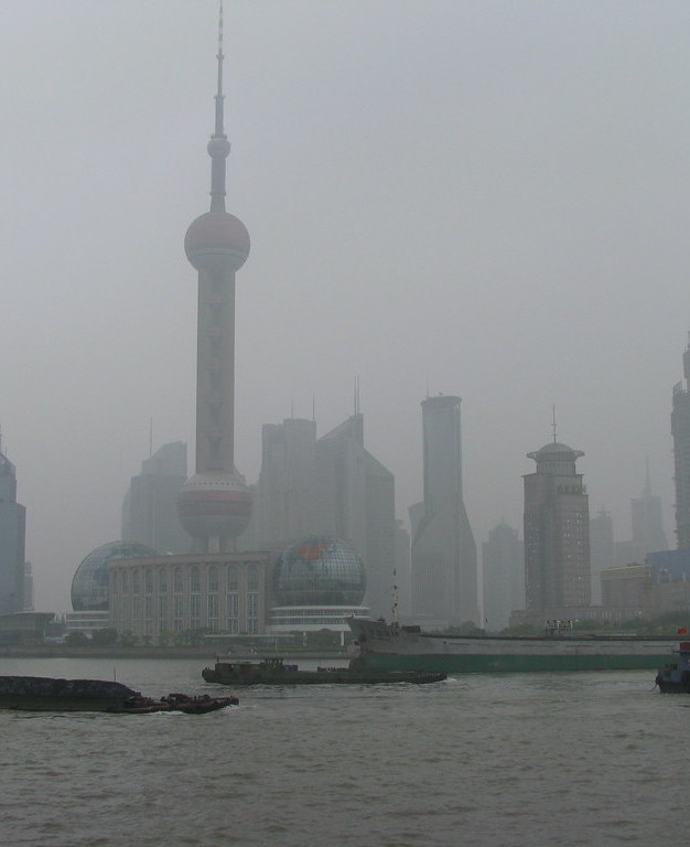 The Bund under pollution
