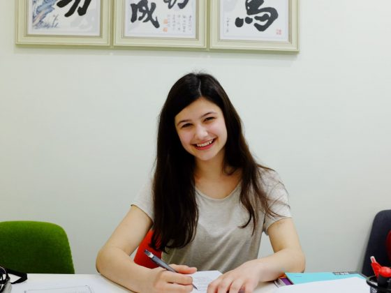Anthea in Class in Shanghai