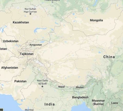 Xinjiang Province 新疆省 - a huge province in the North West of China