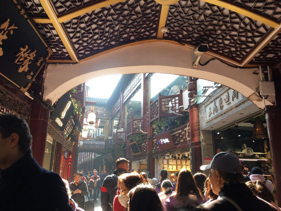 Yuyuan - The garden is surrounded by shops and restaurants