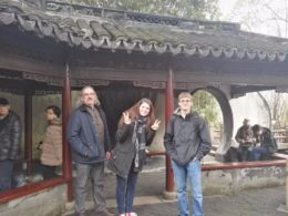 Carlo, Leonina, and Jimmy at Yu Garden in Shanghai