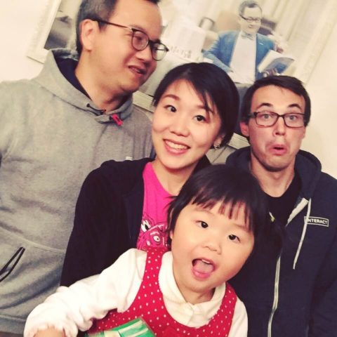 Andrew with his Shanghai homestay family