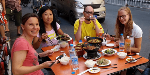 Al fresco lunch in Shanghai with LTL Mandarin