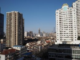 View from the Shanghai school window