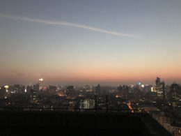 Shanghai sunset as seen from the LTL rooftop